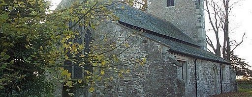 East and north walls