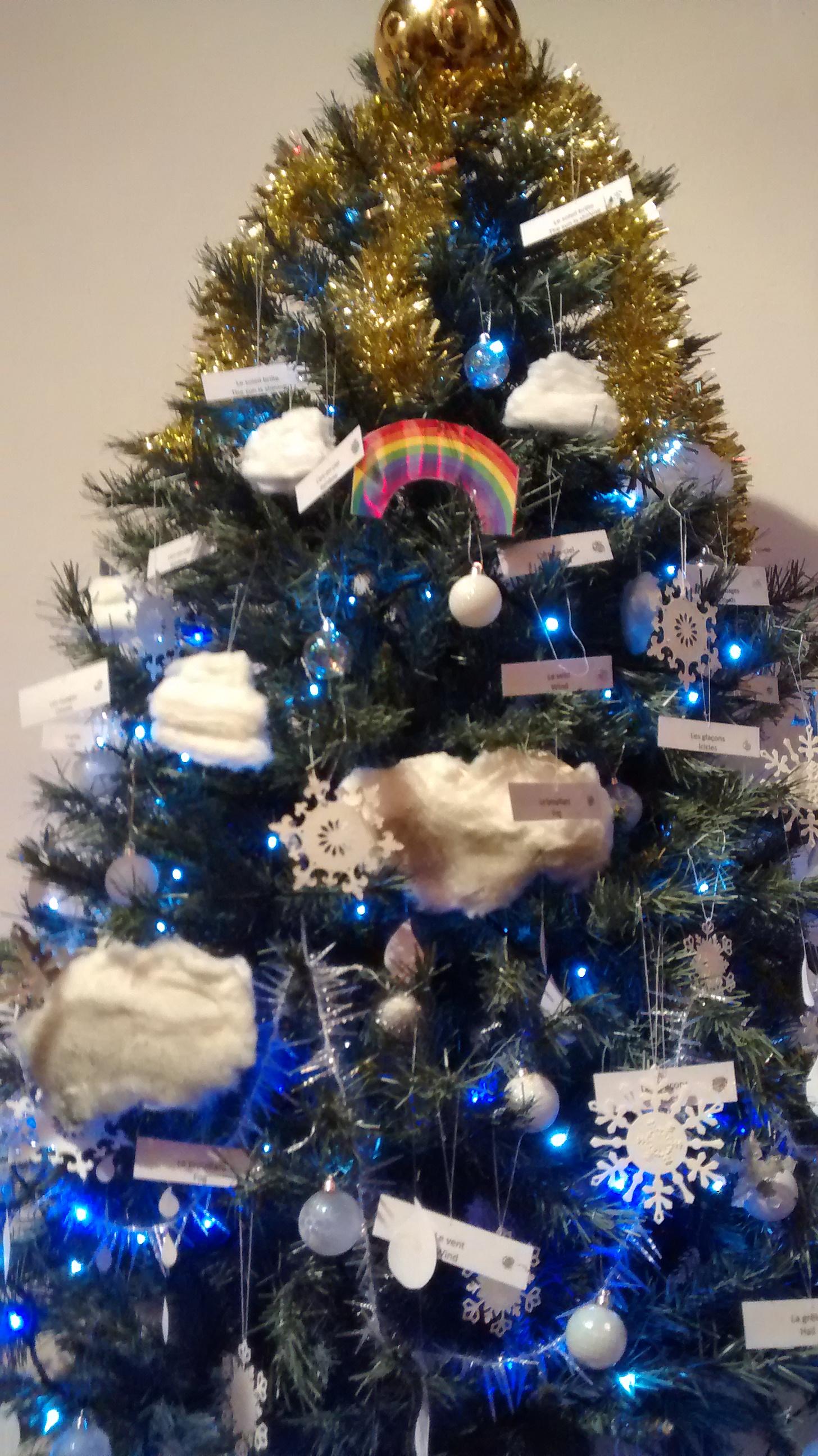 Christmas tree with rainbow